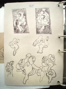 Mais estudos de conceito e composição.